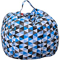 Premium Quality 38 Inch Storage Bean Bag - Stuffed Animal Storage Bean Bag Chair | Perfect Storage Solution For Blankets / Pillows / Towels / Clothes (02)