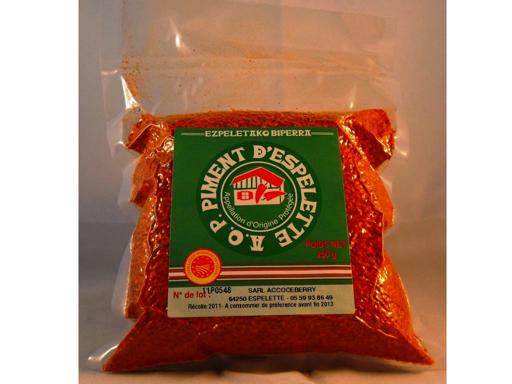 Piment d'Espelette - Red Chili Powder from France 250 grams