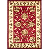 Safavieh Lyndhurst Collection LNH555-4012 Traditional Oriental Red and Ivory Area Rug (5'3″ x 7'6″) For Sale