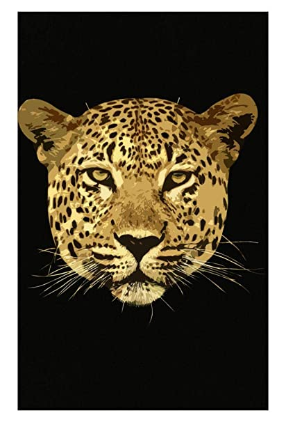 Image Unavailable. Image not available for. Color  Leopard Face African Cheetah  Animal Print ... bb6783bb0