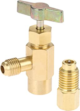 R134A Self-Sealing Can Tap with R134A Tank Adapter 1//2/'/' Acme to 1//4/'/' SAE Refrigerant Can Bottle Tap Opener with 1//4/'/' SAE Female and 1//2/'/' Acme Male Adapter Fits for Air Conditioner Manifold