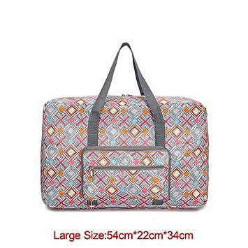 Travel Luggage Duffle Bag Lightweight Portable Handbag Orange Circuit Pattern Large Capacity Waterproof Foldable Storage Tote