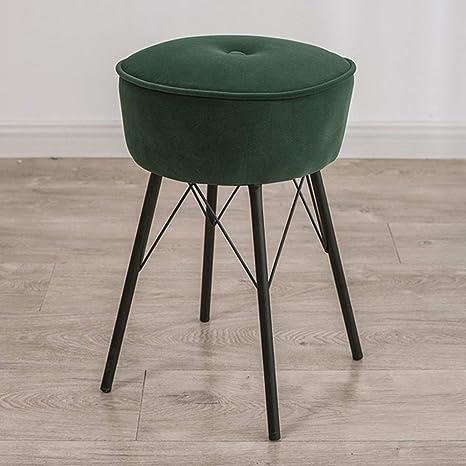 Amazing Amazon Com Round Velvet Ottoman Desk Chair Mid Century Dailytribune Chair Design For Home Dailytribuneorg