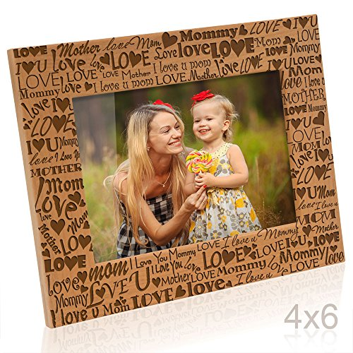 Kate Posh - I Love You Mom, Mother, Mommy Picture Frame (4x6 Horizontal) by Kate Posh