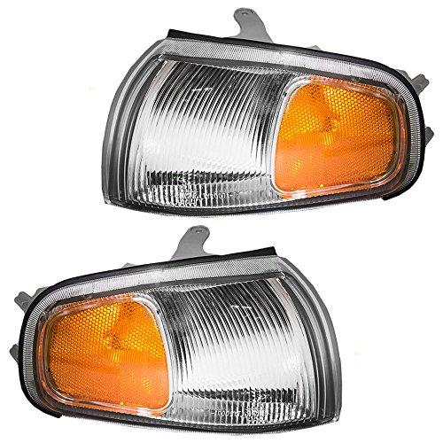 Driver and Passenger Park Signal Corner Marker Lights Lamps Lenses Replacement for Toyota 81620-33030 81610-33030 AutoAndArt ()