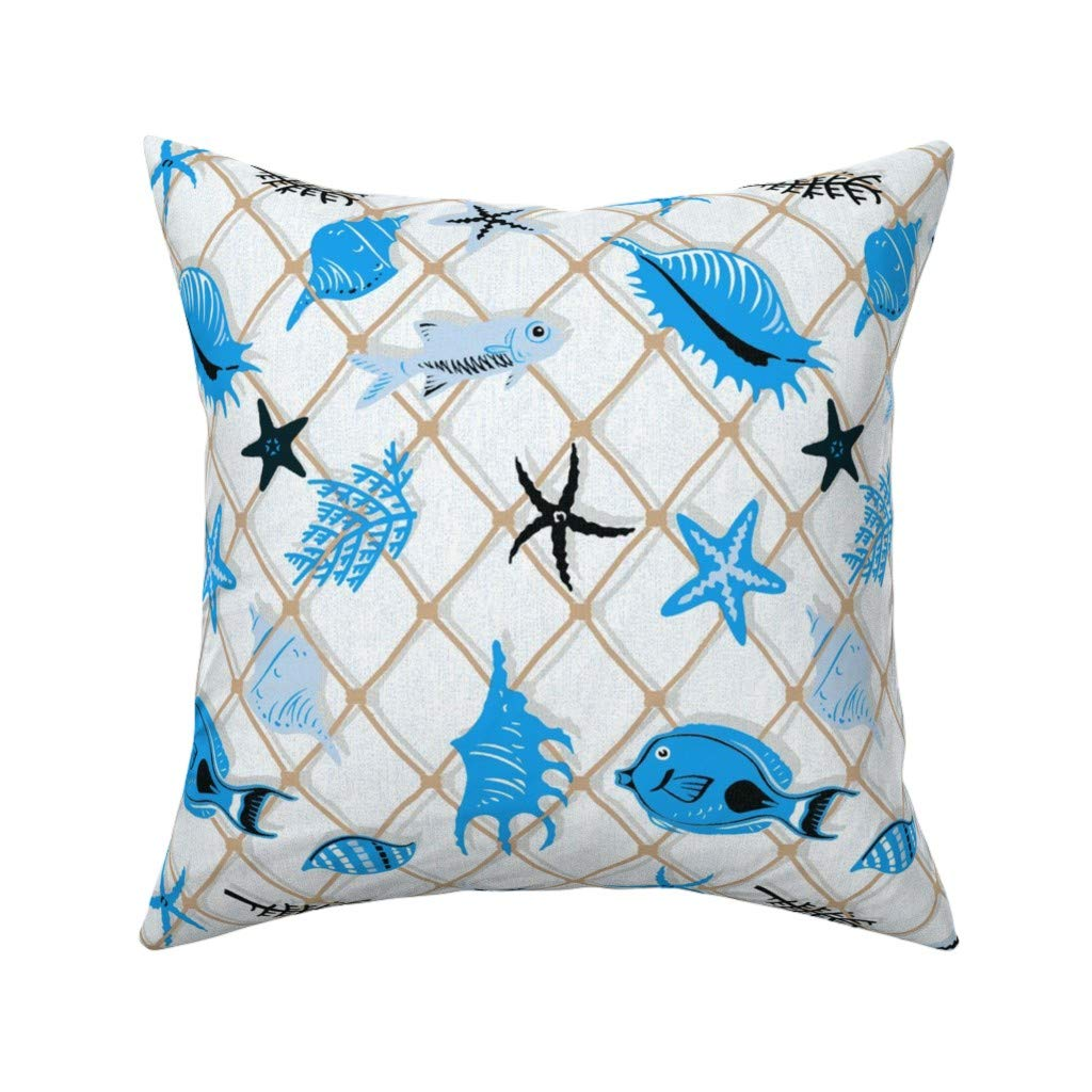 Amazon.com: Roostery Modern Nautical Home Eco Canvas Throw ...