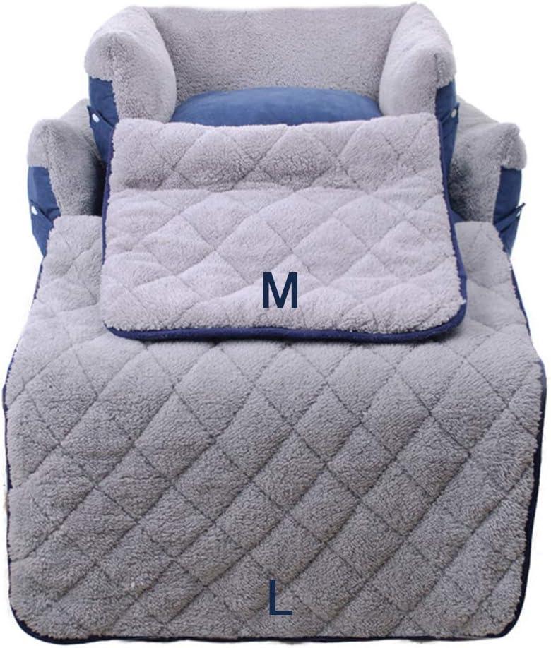 FREESOO-Panier-Lit-pour-Chien-Chat-3-en-1-Super-Doux-Confortable-M-M-Bleu miniature 7