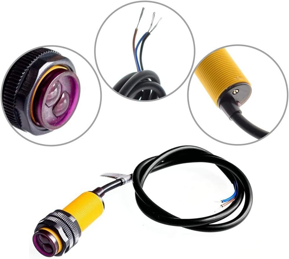 Refaxi E18-D80NK Sensor de interruptor de infrarrojo fotoel/éctrico M/ódulo de sensor para evitar obst/áculos