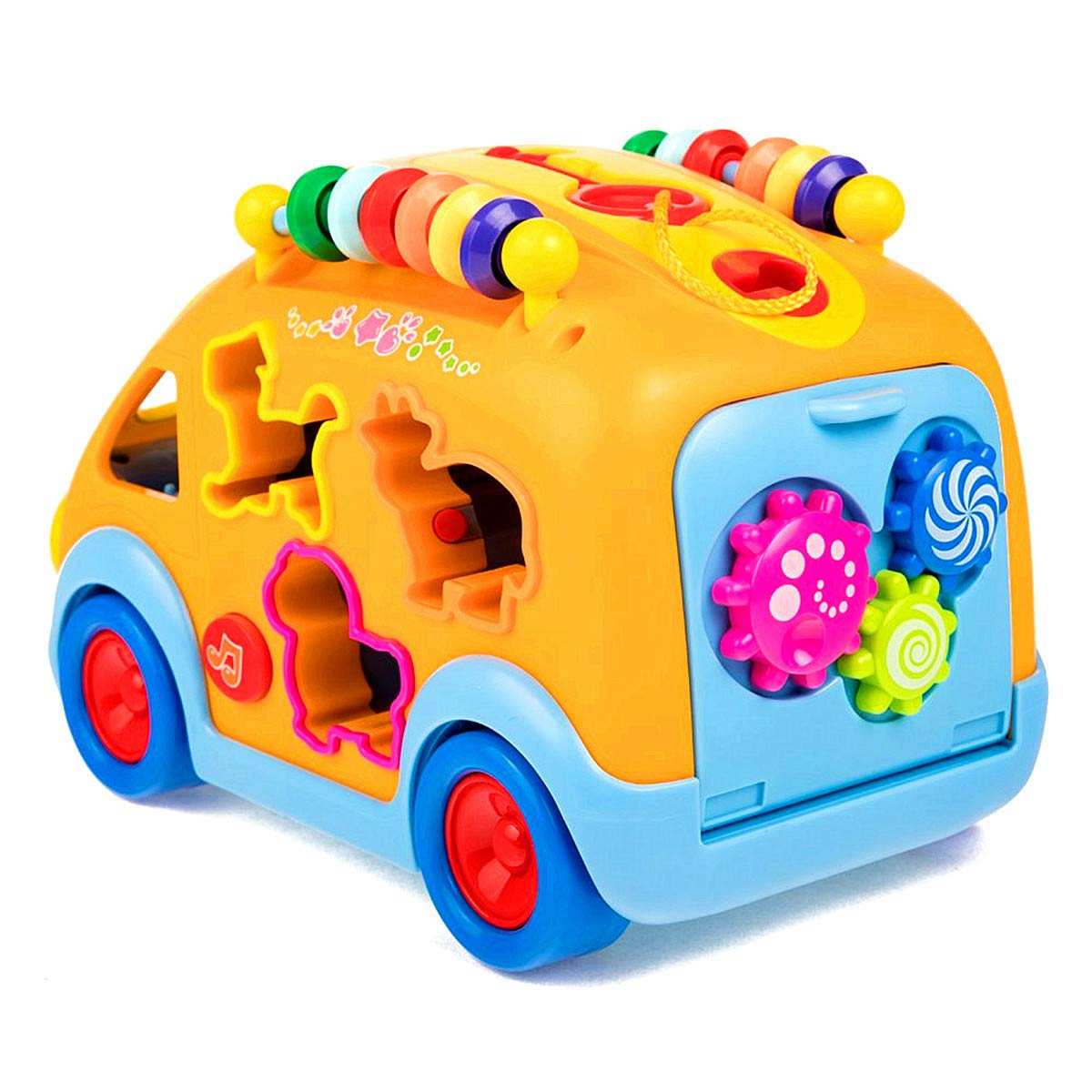 iPlay, iLearn Electronic Musical Bus, Baby Sensory Toy, 3D Animal Matching Car w/ Gear, Early Development, Learning, Educational Gift for 1, 2 Year Olds Girls Boys Toddlers Kids by iPlay, iLearn (Image #8)