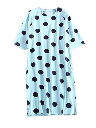 Aivosen Damen Umstands Gepunktet Aufdruck Nachthemd Große Größen ...