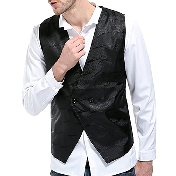 Yying Gilet Uomo Gilet Senza Maniche Gilet Slim Fit Gilet Lavoro Abiti Sposa  Classici Cerimonia  Amazon.it  Abbigliamento a81803d4e69