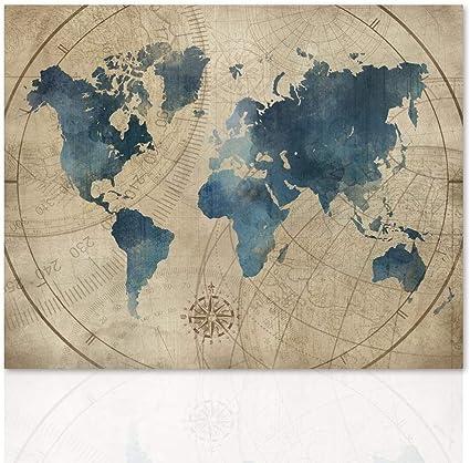 Cartina Geografica Mondo Quadro.Declea Quadro Planisfero Vintage Carta Geografica Mondo Quadro Stampa Moderna Pronta Da Appendere Con Telaio In Legno Realizzato A Mano Amazon It Casa E Cucina