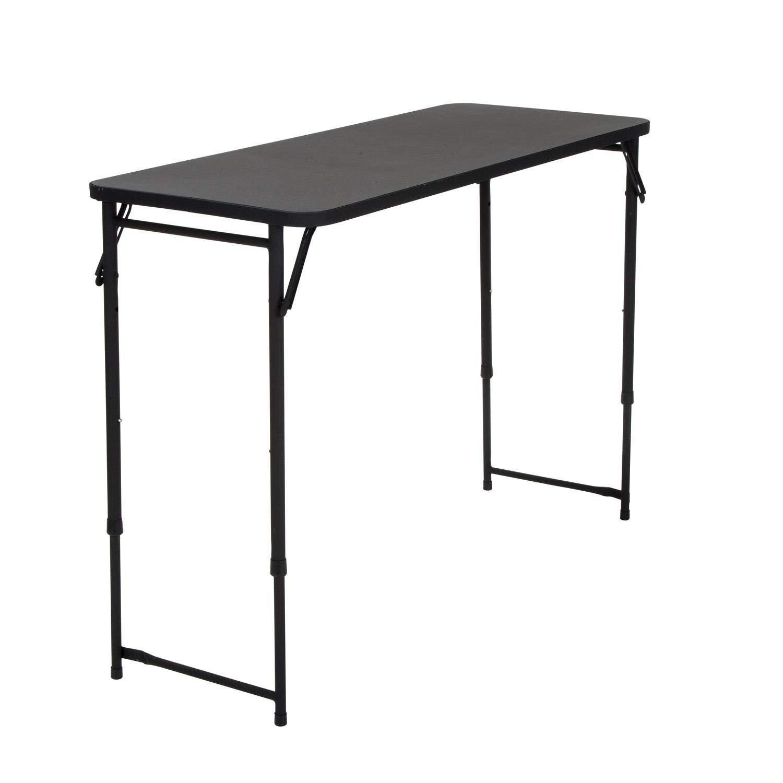 COSCO 20'' x 48'' Adjustable Height PVC Top Table, Black (Renewed)