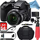 Nikon COOLPIX B500 16MP 40x Optical Zoom Digital Camera w/ Built-in Wi-Fi NFC & Bluetooth (Black) + 64GB SDXC & DigitalAndMore Free Accessory Bundle + Microfiber Cloth