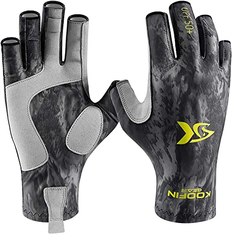 Driving Cycling Hiking Paddling Kayaking CRUSEA Fingerless Outdoor Gloves Sun Gloves UV Protection UPF50+ Fishing Gloves Sun Protection Gloves Men Women for Fishing,Canoeing Rowing