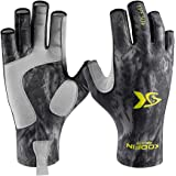 KOOFIN GEAR Fishing Gloves Sun Protection Fingerless Gloves UPF50 Men Women for Outdoor Kayaking Hiking Paddling Driving…