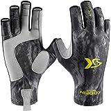 KOOFIN GEAR Fishing Gloves Sun Protection Fingerless Gloves UPF50 Men Women for Outdoor Kayaking Hiking Paddling Driving Cano