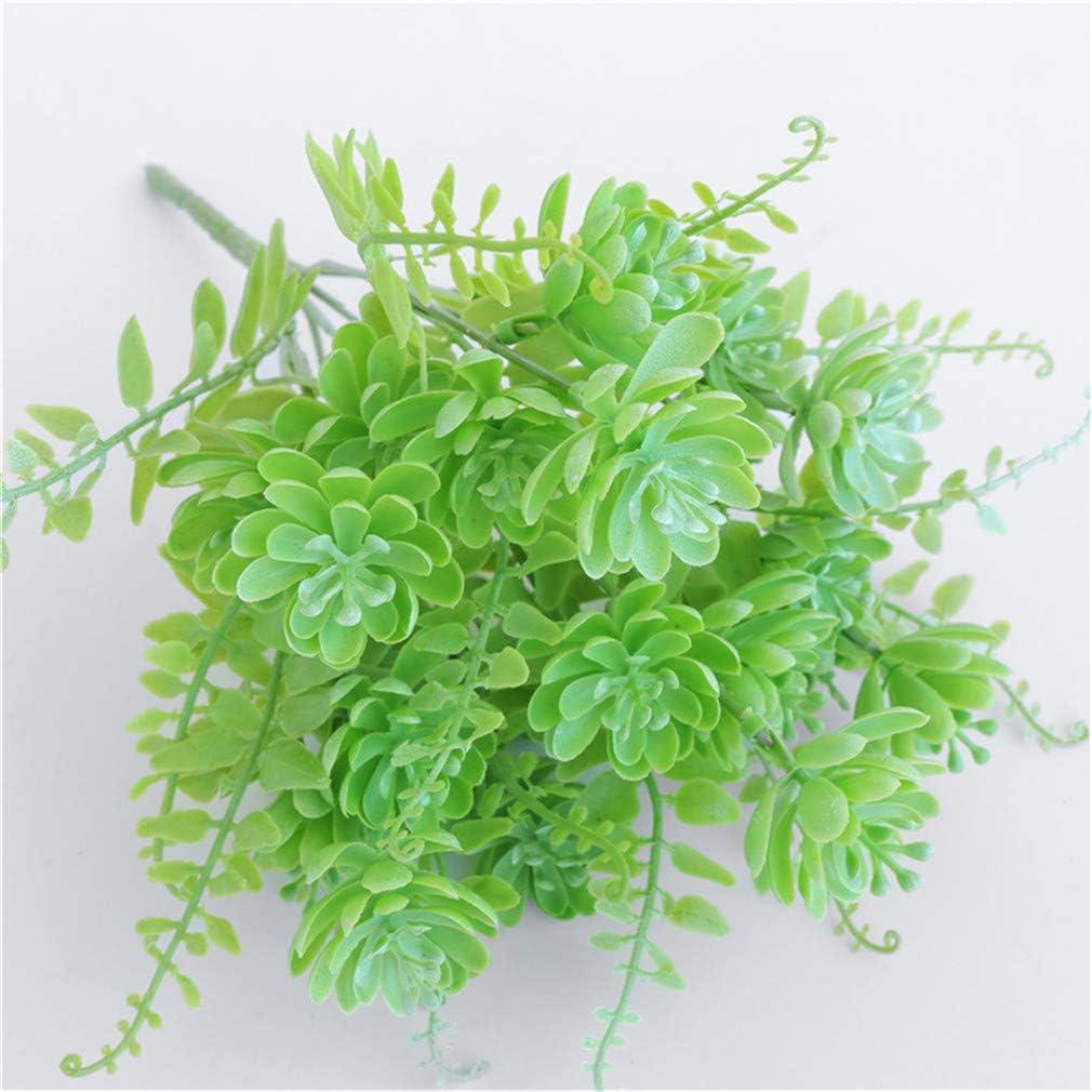 Blanc Vert kemai Plantes succulentes artificielles Faux Plantes en Plastique pour la Maison Bureau Bureau Salle de Bains Cuisine Pot de Jardin d/écor