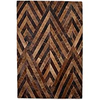 New Cowhide Rug Leather. Animal Skin Patchwork Area Carpet- (4 x 6)