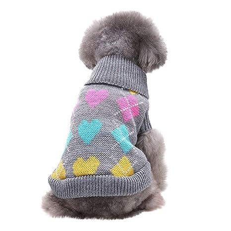 Rawdah_Mascota Ropa para Perros Peque?os Abrigos Camiseta Jerseyss ? Mascota Perro Gato Invierno Cálido