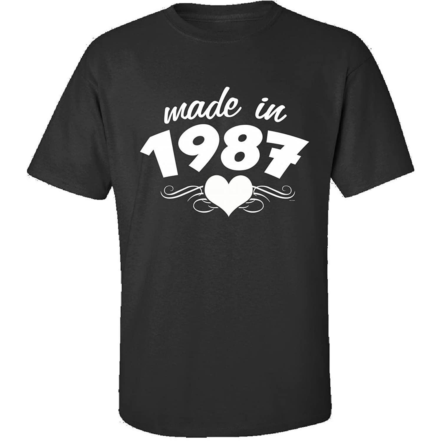 30th Birthday Gifts For Her Unique Made In 1987 Heart Design - Adult Shirt