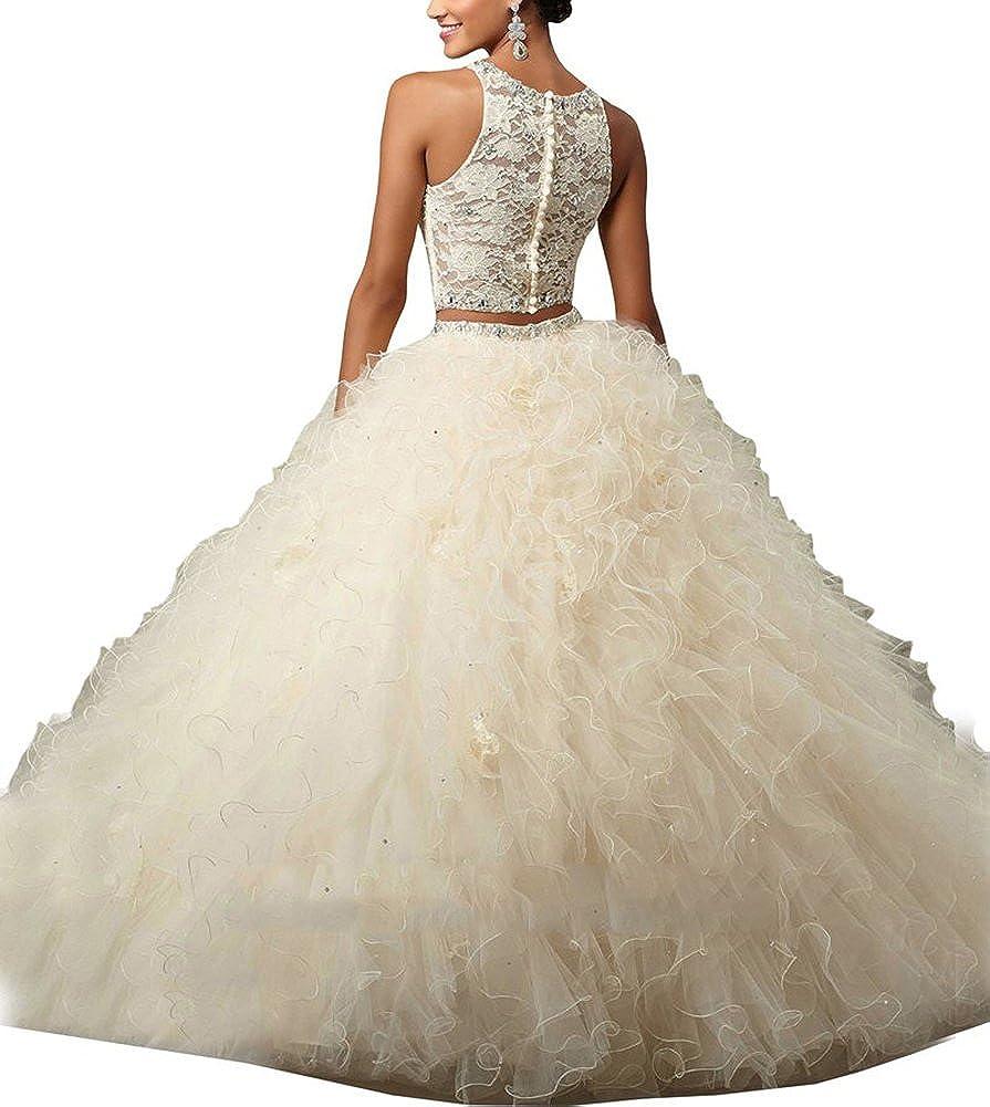 Novia _ Mall Mujer Dos Piezas vestidos de quinceañera de novia Sweet Niñas Vestido de 16: Amazon.es: Ropa y accesorios