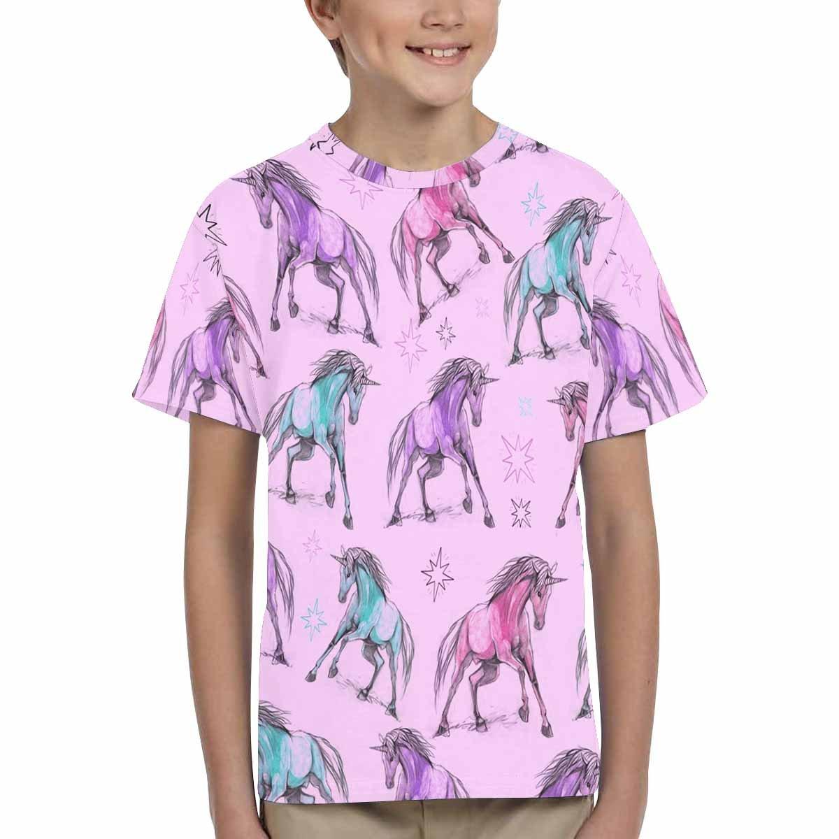 XS-XL INTERESTPRINT Childs T-Shirt Pattern with Unicorns