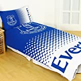 Everton FC Fade Reversible Double Duvet Cover and Pillow Case Set by Official Football Merchandise