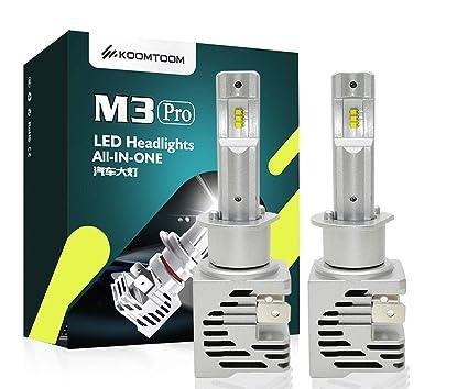 KOOMTOOM Bombillas LED H1 sin cable Kit de conversión halógena 1:1 ...