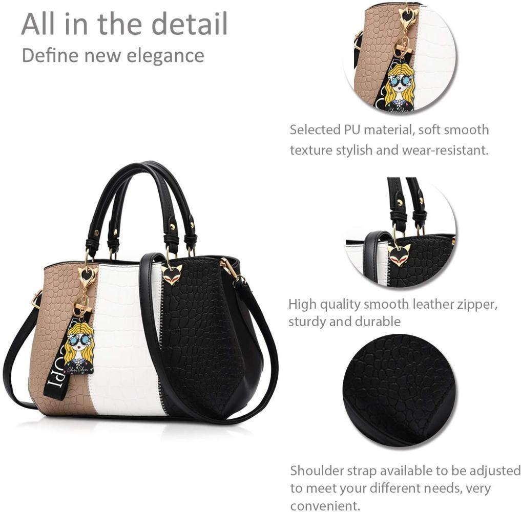 Regnkvinnor handväskor messengerväska damhandväska kvinnlig väska handväskor för kvinnor, azurblå Svart C