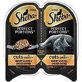 Sheba Wet Food Cuts in Gravy Savory Salmon & Chicken Wet Cat Food (24 Twin Packs)