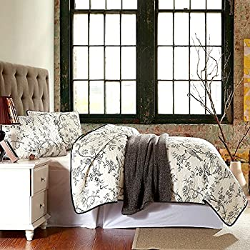 Best Comforter Sets, Flying Birds And Flowers Printing 3 Piece Cotton  Bedspread/Quilt Sets, Queen