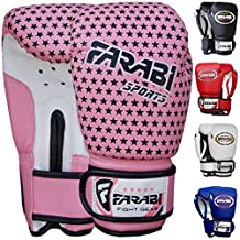 Farabi 4 oz Kids Boxing gloves, MMA, Muay thai junior punch bag mitts Pink