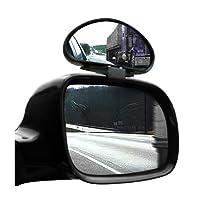TRIXES 2 X Miroirs d'Angles Morts Grand Angle Réglables pour Voiture Camionnette Remorquage