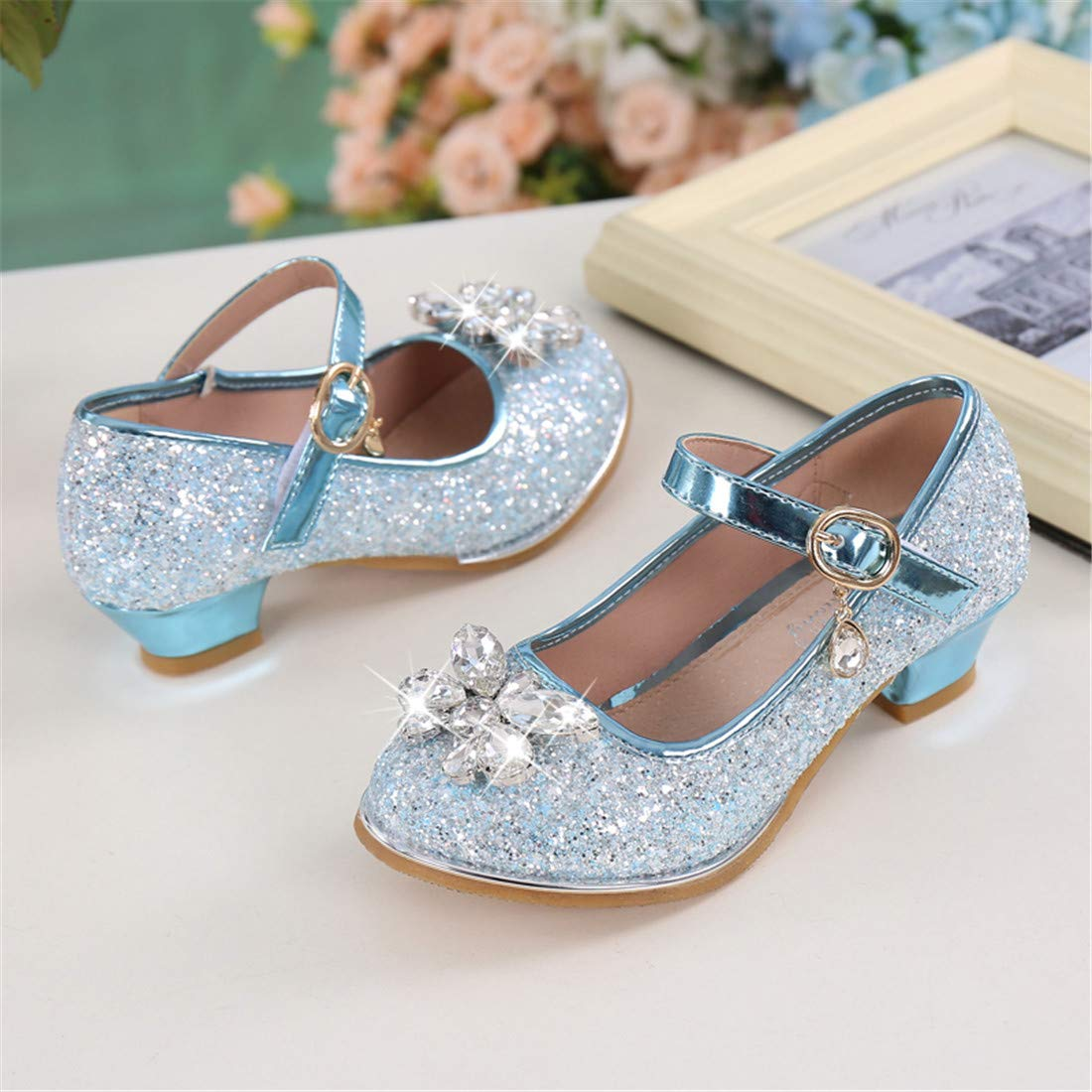 Little Girls Adorable Sparkle Mary Jane Princess Dress Shoes Birthday Party Shoes