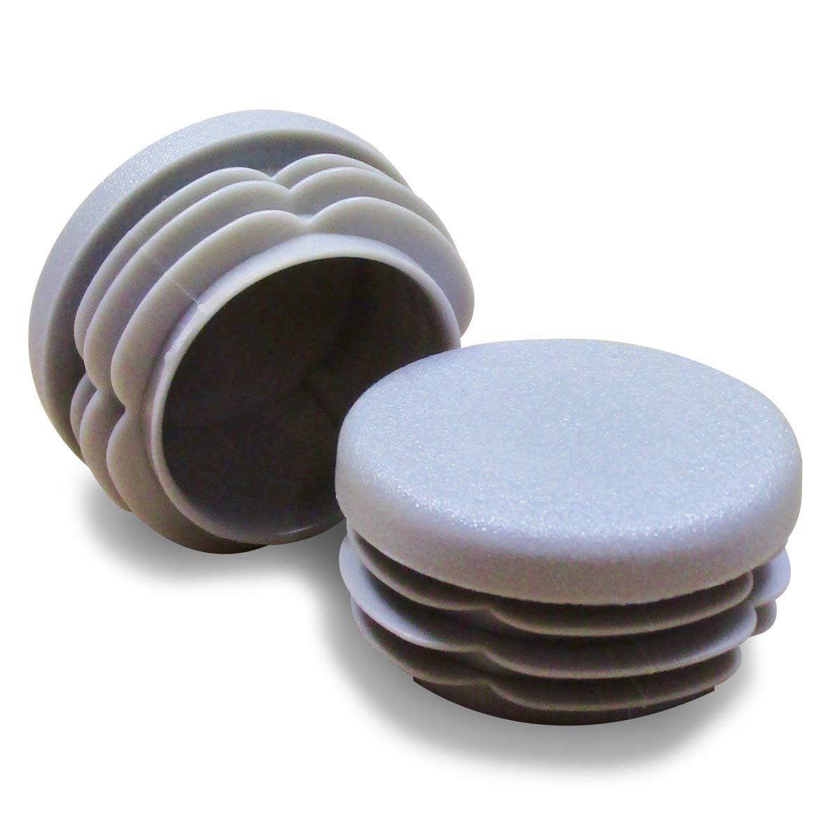 Ajile® - 16 piezas - Contera plasticó redonda de interior para tubo esterior diámetro 25 mm - GRIS - EPR325x16-FBA Ajile®