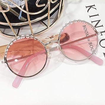 GYBTYJDD Gafas de Sol de Perlas, Gafas de Color Rosa ...