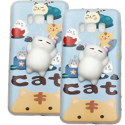 Wowdecor Squishy Phone Case for Samsung Galaxy S8 Plus 3D Squishy Stress  Relieve Cute Soft Silicone 09b8258efa