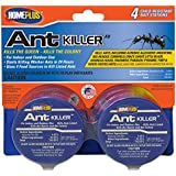 PIC 4PK AB Homeplus Ant Killer Metal Bait Stations, 4 Count Multicolor