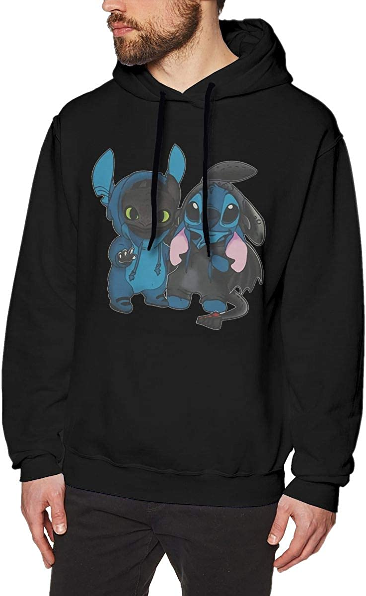 AdelineEstell Stitch and Toothless Man Motion Keep Warm Hoodie