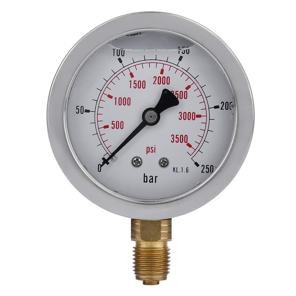 0~250BAR//3600PSI Gauge with 1.5 Meter Hose Hydraulic Pressure Gauge kit M162-BSP1//4 Hydraulic Hose Test Point Coupling