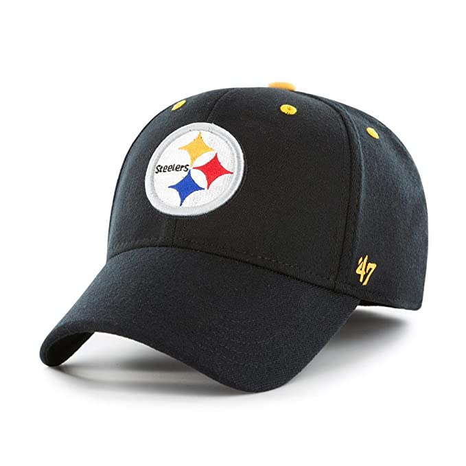 bac07913 Amazon.com : '47 Kickoff Brand Contender Pittsburgh Steelers Fitted ...
