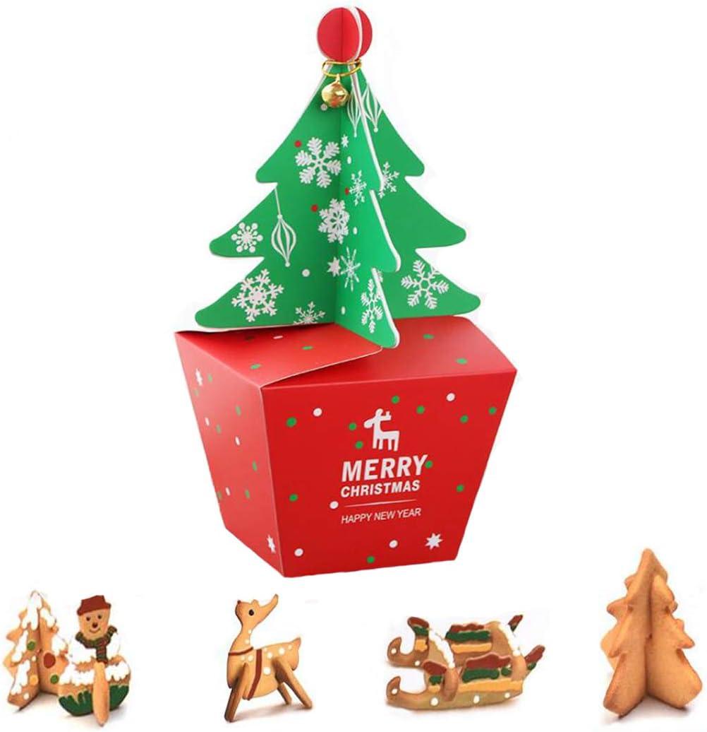 Cajas de dulces navideñas Campanas de árbol de Navidad Cajas de galletas Suministros de fiesta para la víspera de Navidad Regalos de acción de gracias Bolsa de favor de fiesta para niños