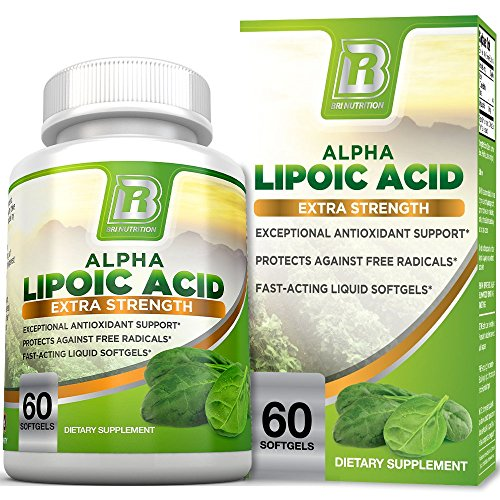 BRI Nutrition Alpha Lipoic Acid – ALA Softgel Combats Free Radical Damage, Supports Healthy Blood Sugar Levels, Promote Healthy Nerve Function – 300mg, 60 Count Fast Absorption Liquid Gels