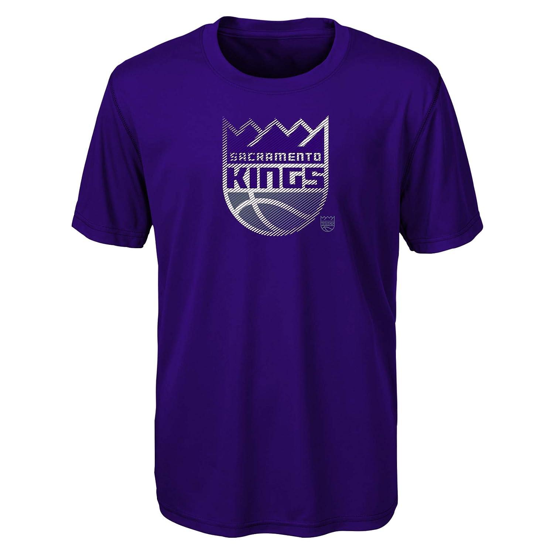 5-6 NBA Kids /& Youth Boys Motion Offense Short Sleeve Performance Tee Sacramento Kings-Regal Purple-M