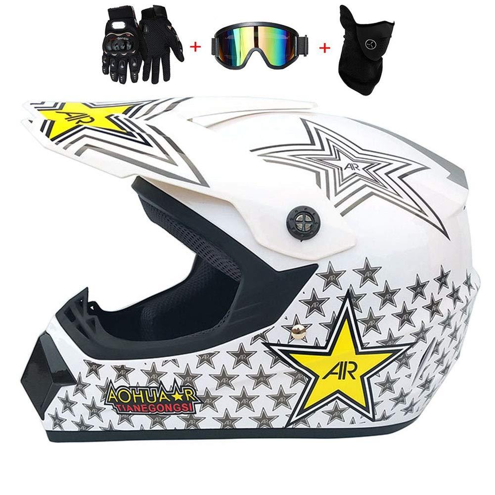 SGLL Motocross Adulto Casco MX Moto Casco Scooter ATV Casco ...