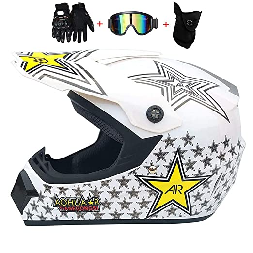 SGLL Motocross Adulto Casco MX Moto Casco Scooter ATV Casco ...