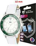 Universal Round watch SCREEN Protector (2 Units) Invisible Protection GOOD FOR SMART WATCH TOO by IPG Size options are available (32 mm diameter)