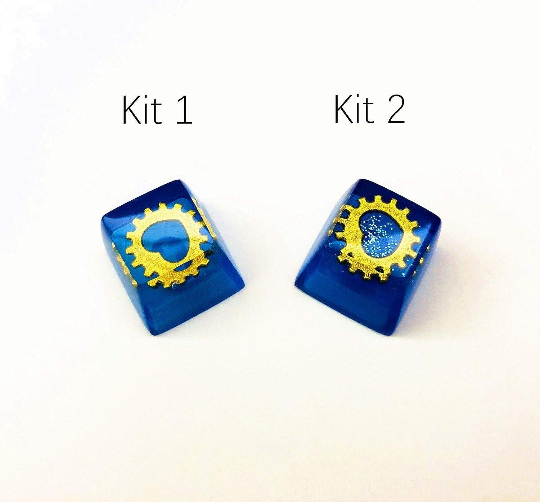 Handmade Heart of Ocean Resin R4//ESC Keycap Backlit Translucent Key Cap Switch OEM Profile for Cherry RGB MX Mechanical Gaming Keyboards Kit 2