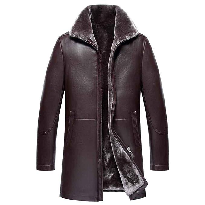 Chaqueta de cuero de los hombres Geniune piel de oveja abrigo de piel de invierno de